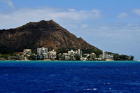 Diamond Head Crater from the Sea